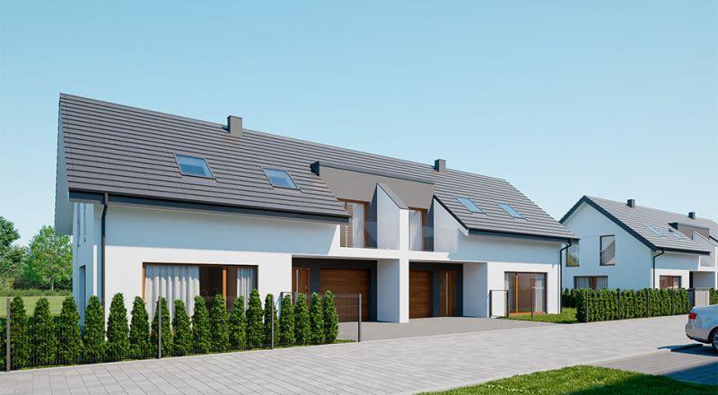 Wizualizacja jednego z domów na Osiedlu Popielove